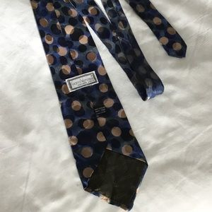 Vtg Gianni Versace Silk Tie Blue With Black & Gold